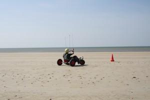 Char à traction sur la plage de Notre Dame